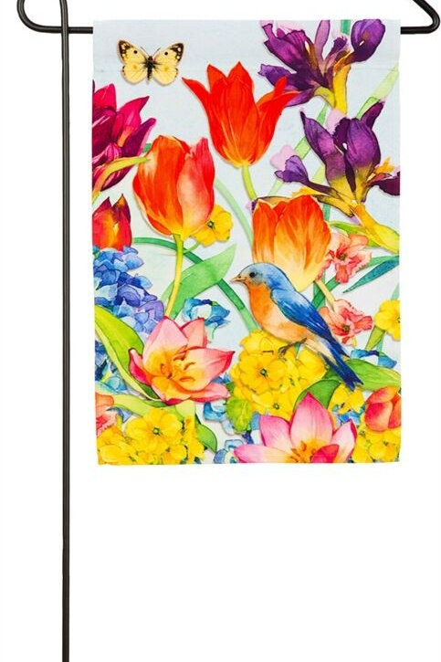 "Spring Garden 14A41504 Evergreen Satin Garden Flag 12.5"" x 18"""