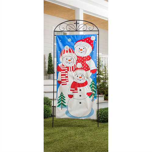 "Snow Family Photo Op DOOR COVER 13DL9340 Evergreen 28""W x 54""H"