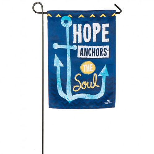 """Hope Anchors the Soul 14S4802 Evergreen Suede Garden Flag 12.5"""" x 18"""""""