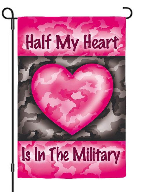 "Half My Heart 14S2522 Evergreen Suede Garden Flag 12.5"" x 18"""