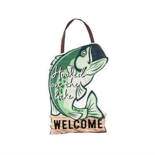 Hooked on the Lake Door Decor 2DHB1316 Evergreen Door Hanger