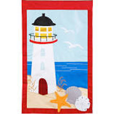 "**OPEN FLAG NO PACKAGING** Lighthouse 158681BL Applique HOUSE Flag 28"" x 44"""