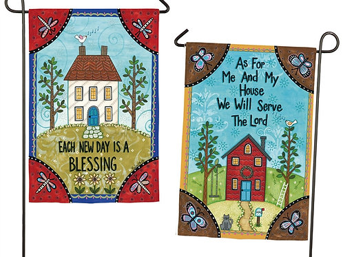 """Each New Day is a Blessing 14S3984FB Evergreen Suede Garden Flag 12.5"""" x 18"""""""