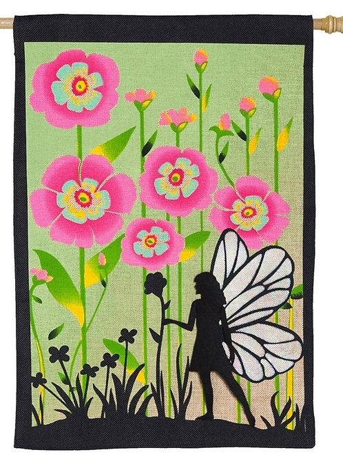 "Garden Fairy 13B4007BL Evergreen Burlap HOUSE Flag 28"" x 44"""