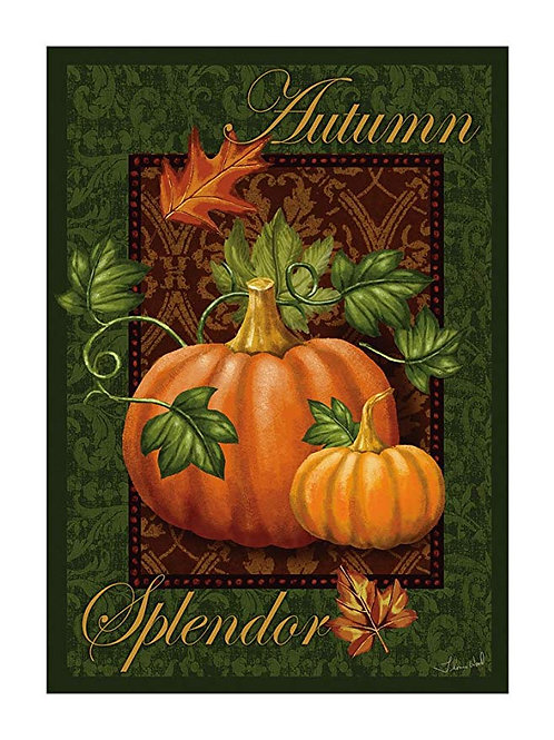 "Autumn Splendor 71644 Evergreen Satin HOUSE Flag 28"" x 44"""