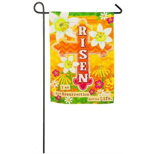 """Risen 14S4094 Evergreen Suede Garden Flag 12.5"""" x 18"""""""