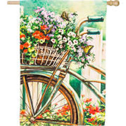 """Special Delivery 13A4152 Evergreen Satin HOUSE Flag 28"""" x 44"""""""