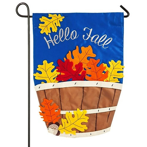 "Fall Basket 168695 Evergreen Applique Garden Flag 12.5"" x 18"""