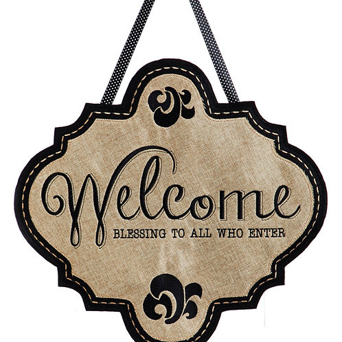 Welcome Door Decor 2DHB1012 Evergreen Door Hanger