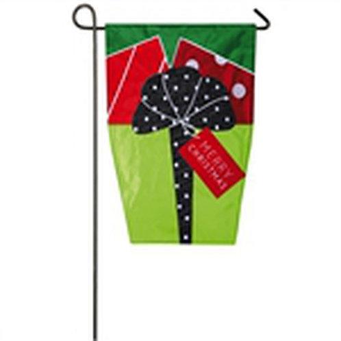 """Christmas Presents 168863SA Evergreen Applique Garden Flag 12.5"""" x 18"""""""