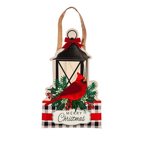 Merry Christmas Cardinal Door Decor 2DHB1626 Evergreen Door Hanger