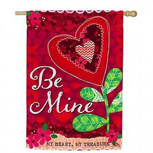 "**OPEN FLAG NO PACKAGING** Be Mine 13S4093 Evergreen Suede HOUSE Flag 28"" x 44"""