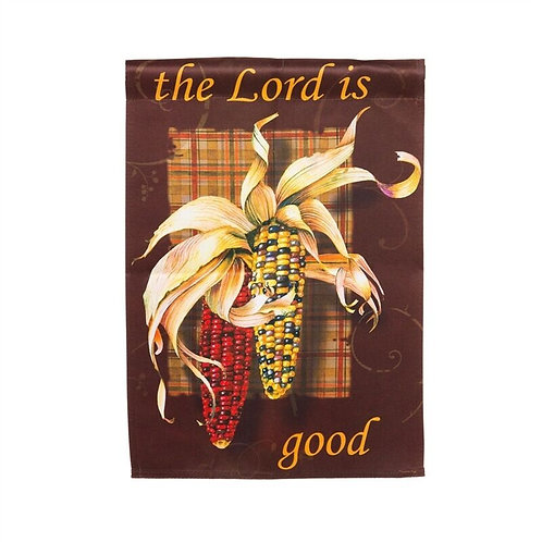 "The Lord is Good 14S2551GC Evergreen Suede Garden Flag 12.5"" x 18"""