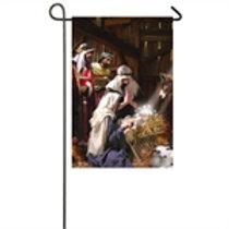 "Nativity Scene 14A8159 Evergreen Satin Garden Flag 12.5"" x 18"""