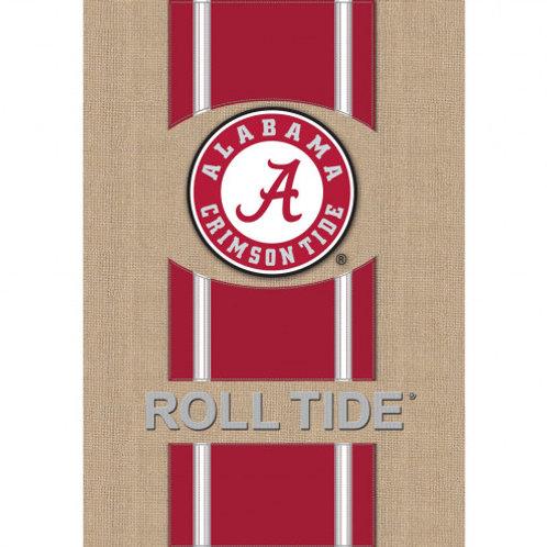 """NCAA Team Sports BURLAP HOUSE Flag 28"""" x 44"""""""