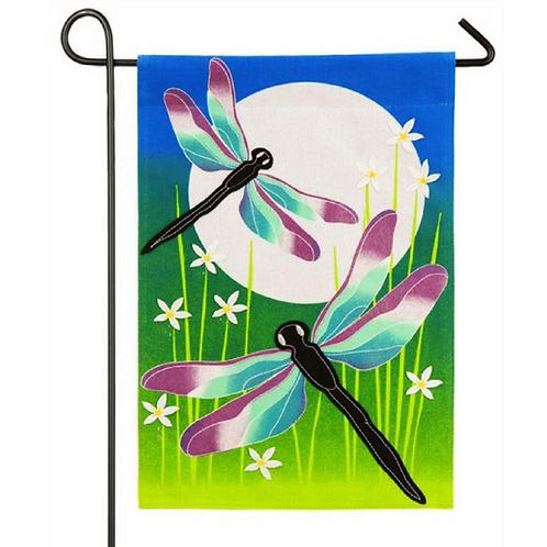 "Dragonfly Dance 14B4035BL Evergreen Burlap Garden Flag 12.5"" x 18"""
