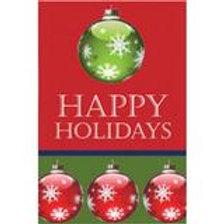 "Happy Holiday 14S3185 Evergreen Suede Garden Flag 12.5"" x 18"""