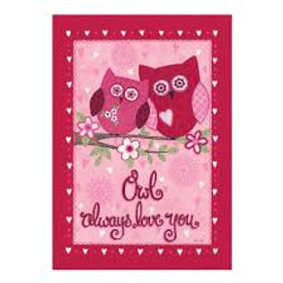 "Owl Always Love You 14S2729GC Evergreen Suede Garden Flag 12.5"" x 18"""