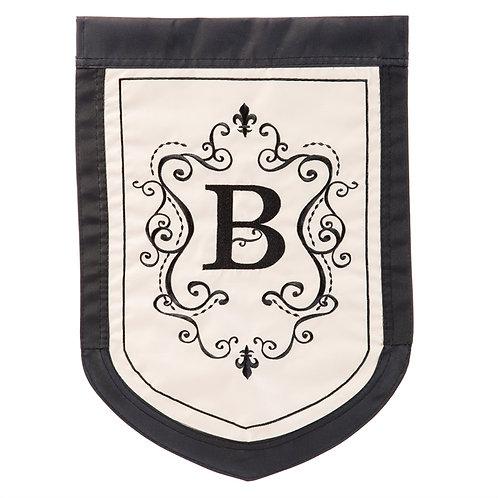 """Regal Monogram - 16659 Evergreen Applique Garden Flag 12.5"""" x 18"""""""