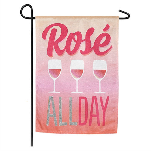 "Rose All Day 14L8446BL Evergreen Linen Flag Garden Flag 12.5"" x 18"""