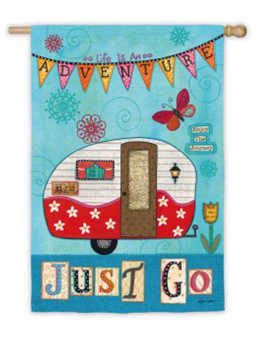 "Just Go 14S3404 Evergreen Suede Garden Flag 12.5"" x 18"""
