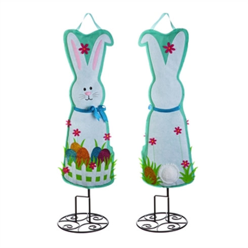 "Easter Bunny 36"" Statement Stake 2PDB1015FB Evergreen Door Hanger Garden Stake"