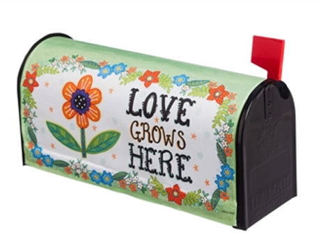 Love Grows Here Evergreen Mailbox Cover 56614