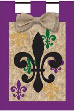 "Fleur De Lis 14B2792 Evergreen Burlap Garden Flag 12.5"" x 18"""