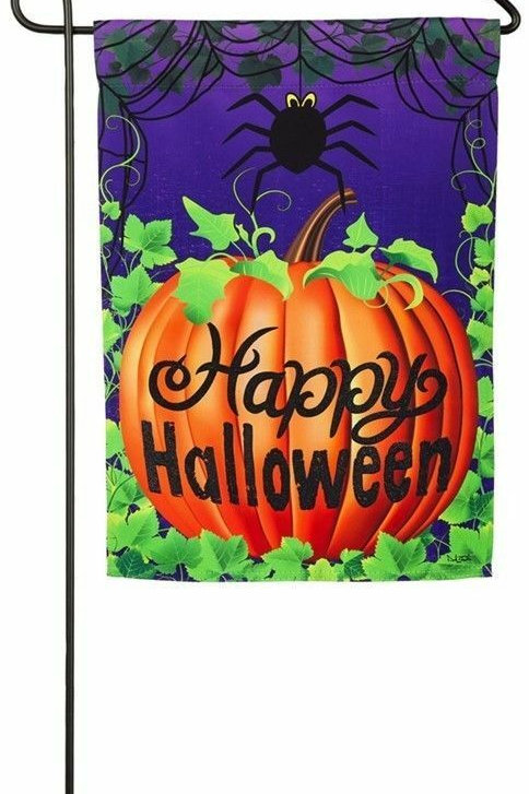 "Halloween Spider 14S3936BL Evergreen Suede Garden Flag 12.5"" x 18"""
