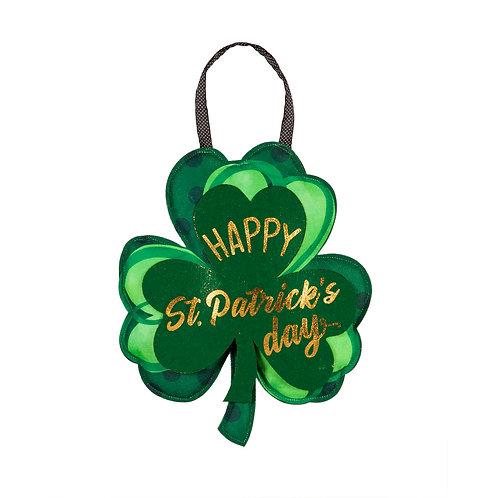St. Patrick's Day Shamrock Door Décor 2DHB1544 Evergreen Door Hanger