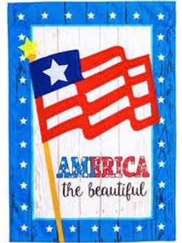 "**OPEN FLAG NO PACKAGING** America The Beautiful Linen HOUSE Flag 28"" x 44"""