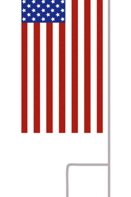 American Flag Mini Flag Set Printed Design Evergreen P410