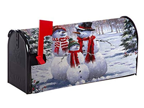 Snow Family Evergreen Mailbox Cover 56633