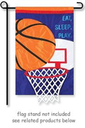 "Basketball 168485 Evergreen Applique Garden Flag 12.5"" x 18"""