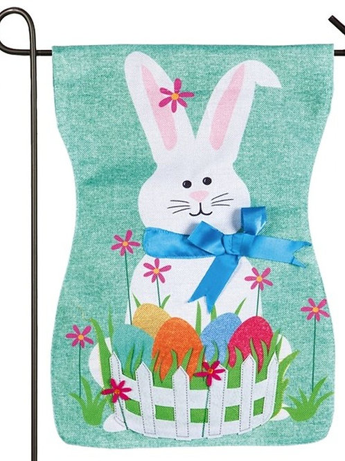 "Easter Bunny 14B4816 Evergreen Burlap Garden Flag 12.5"" x 18"""