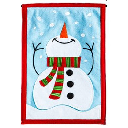 "**OPEN FLAG** Joy of Winter 16F8475 Evergreen Felt Garden Flag 12.5"" x 18"""