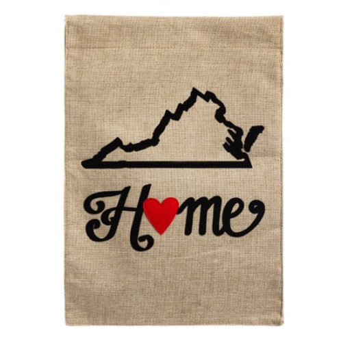 "Virginia State of My Heart 14B3839 Burlap Garden Flag 12.5"" x 18"""