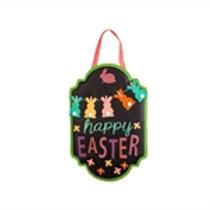 Happy Easter Chalkboard Banner Door Decor 2DHB1238 Evergreen Door Hanger