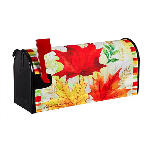 Fall Leaves Evergreen  Mailbox Cover 56682