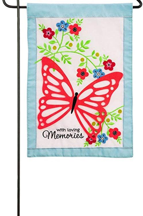 "With Loving Memories 168664 Evergreen Applique Garden Flag 12.5"" x 18"""