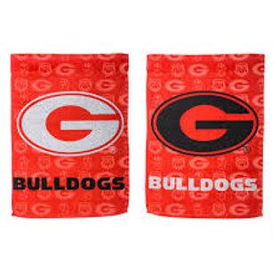 "NCAA Team Sports Georgia Suede GLITTER Garden Flag 12.5"" x 18"""