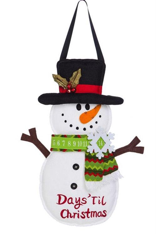 Days Till Christmas Door Decor 2DHB1228 Evergreen Door Hanger