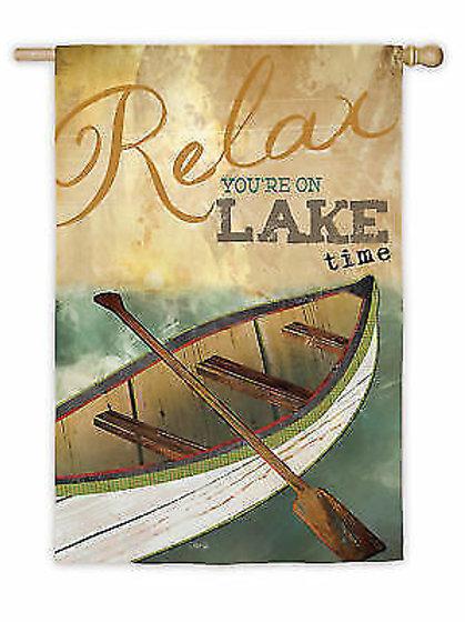 "Lake Time 14S3425 Evergreen Suede Garden Flag 12.5"" x 18"""
