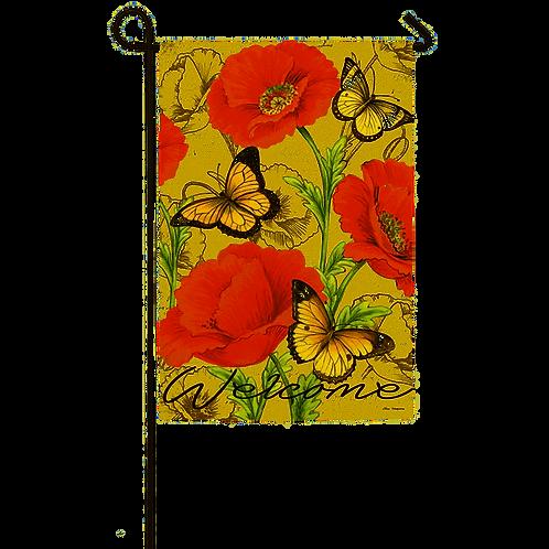 """Bright Florals 14S3627 Evergreen Suede Garden Flag 12.5"""" x 18"""""""