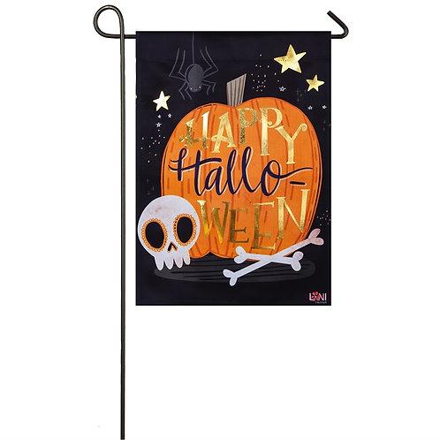 "Halloween Skull 14S8222BL Evergreen Suede Garden Flag 12.5"" x 18"""