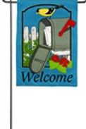 "Bird Mail 14B4039 Evergreen Burlap Garden Flag 12.5"" x 18"""