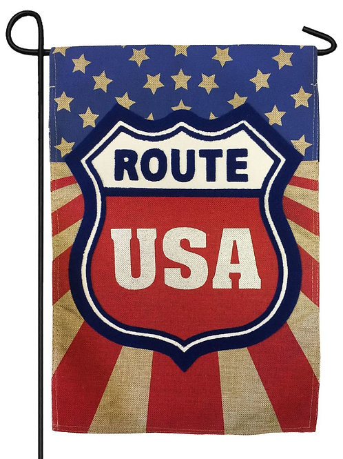 "Route USA 14B3738BL Evergreen Burlap Garden Flag 12.5"" x 18"""