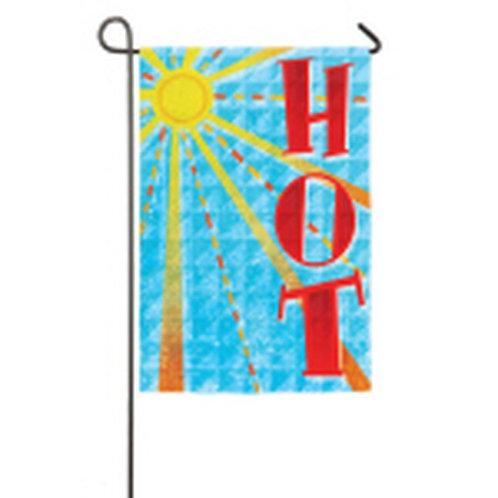 """FOTM June Hot 14S3006 Evergreen Suede Garden Flag 12.5"""" x 18"""""""