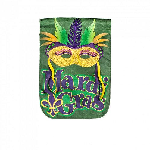"Mardi Gras Mask 14B4888BL Evergreen Burlap Garden Flag 12.5"" x 18"""