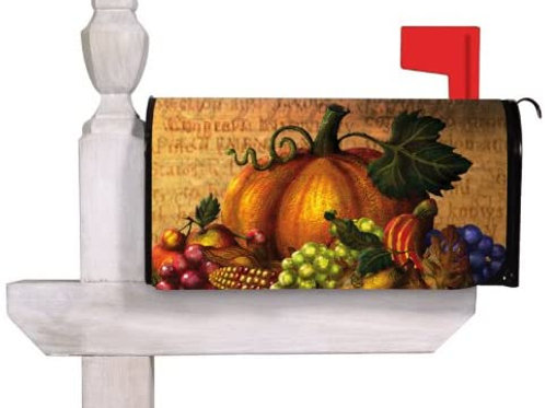 Give Thanks Table Evergreen Mailbox Cover 56404